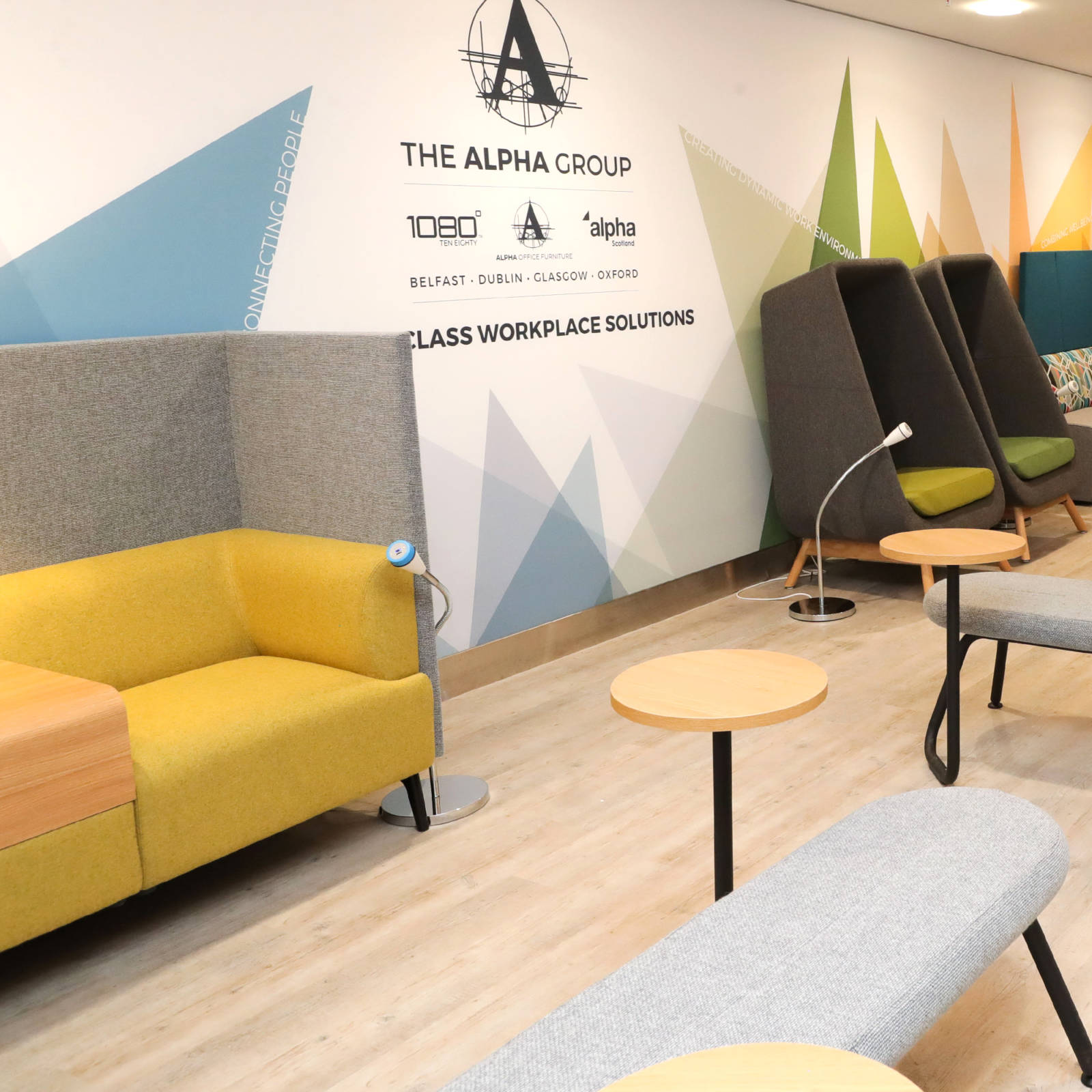 soft seating at belfast airport waiting room