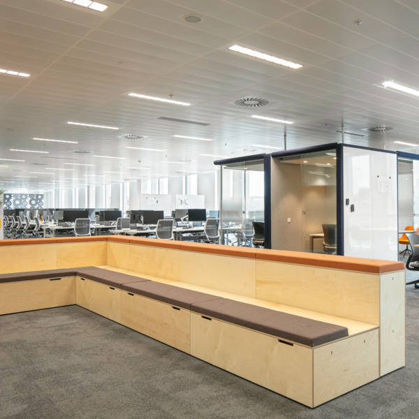 2 tier auditorium in HSBC Sheffield office provided by Connection