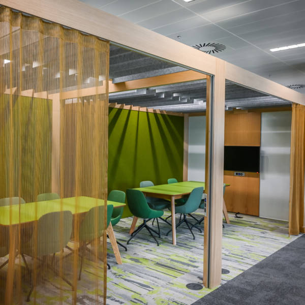 office dividers for HSBC provided by Connection
