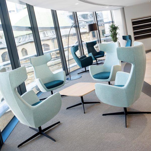 Blue work chair