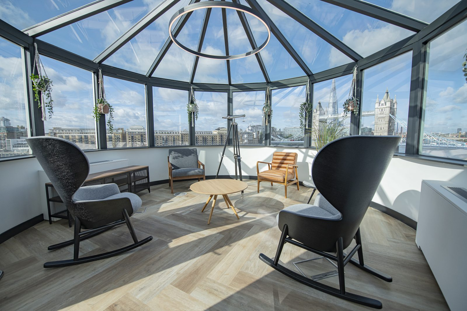 Connection Hygge chairs soft seating Tower Bridge