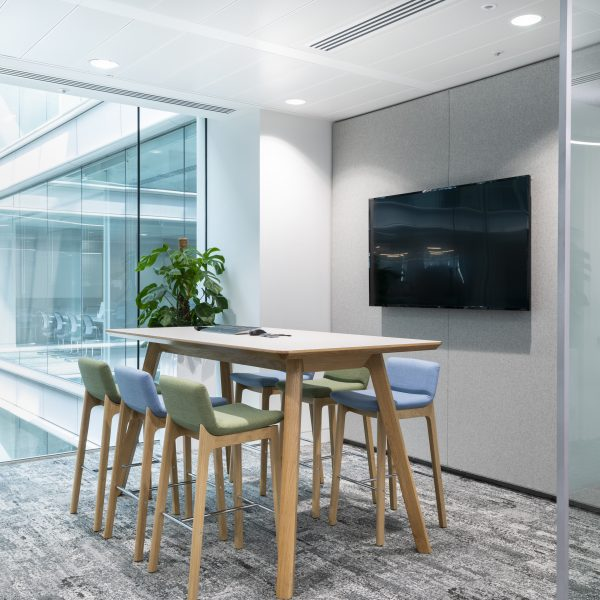 Connection Swoosh stools Centro tables Bank of New York case study